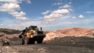 truck in a coal mine video