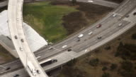 Truck in Motion on Interstate Aerial video