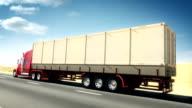 Truck on highway video