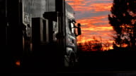 HD: Truck Stop At Sunset video