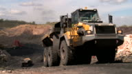 truck transporting coal in a coal mine video