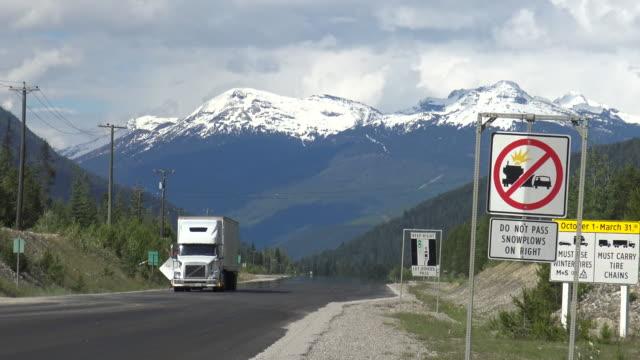 Trucks on Highway 5 video