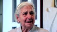 True weeping of elderly woman video