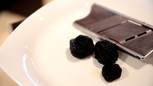 Truffle on a plate video