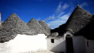 Trulli - traditional stone houses in Alberobello, Italy video