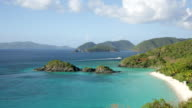 Trunk Bay, St John, USVI (pan right) video