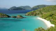Trunk Bay, St John, USVI (pan left) video