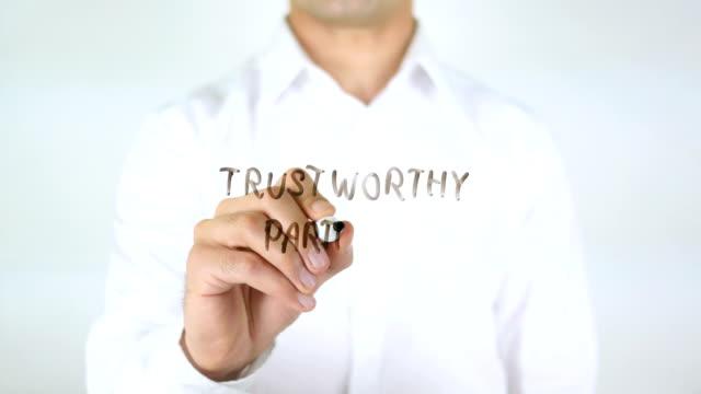 Trustworthy Partners, Man Writing on Glass video