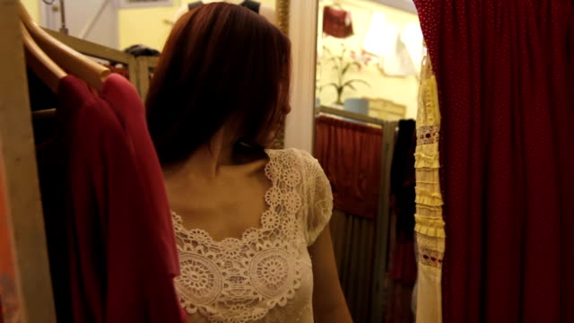 Trying on clothes video