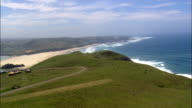 Tshani And Coastline  - Aerial View - Eastern Cape,  South Africa video