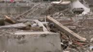 Tsunami zone Japan video