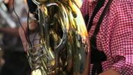 Tuba Player Loopable Close-up shot video