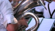 Tuba Player Performing In Open air Concert video