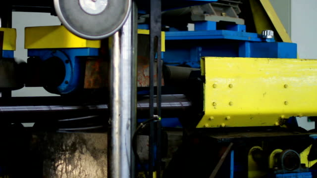 Tube rolling machine at the factory video