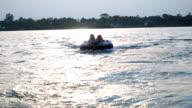 Tubing Behind Boat video