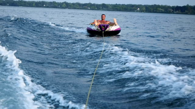 Tubing On Lake video