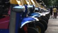 Tuk Tuk parked on street video