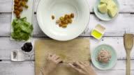 Tuna salad 4K Time Lapse video