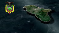 Tungurahua with Coat Of Arms Animation Map video