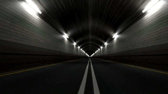 Tunnel Road Driving Endless Seamless Loop video