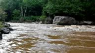 Turbid water of tropical river after hard rain video