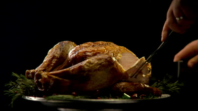 HD Turkey Being Carved video