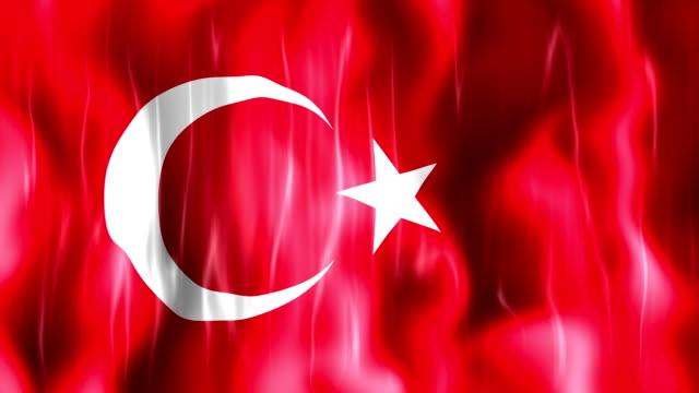 Turkey Flag Animation video