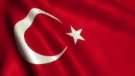 Turkey Flag Video Loop - 4K video