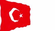 Turkey national flag video