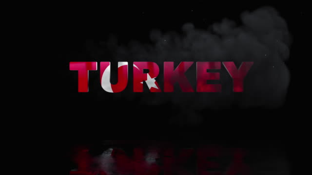 Turkish Flag On Title is Revealing with Fire video