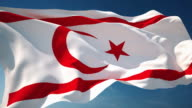 4K Turkish Republic of Northern Cyprus Flag - Loopable video