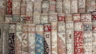 Turkish silk carpets video