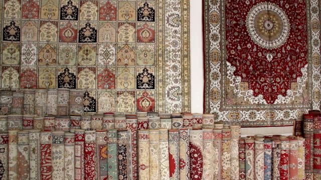 Turkish silk carpets video