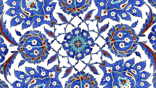 Turkish tiles found in Istanbul Turkey video