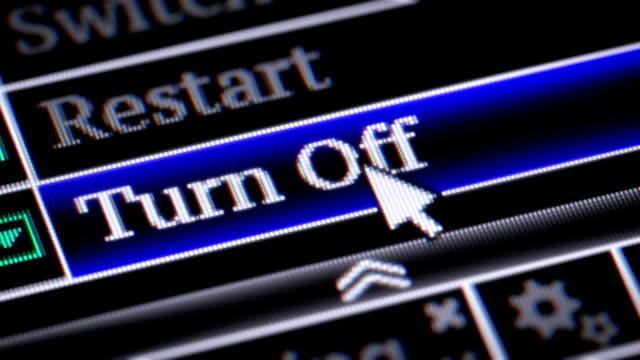 Turn Off video