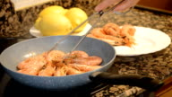 Turn Over Frying Shrimp video