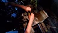 Turner Making Plastic Plug On Machine video