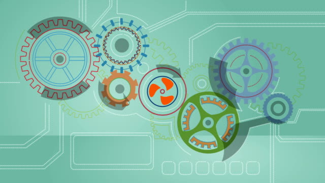 Turning Cogs Animation HD Video video