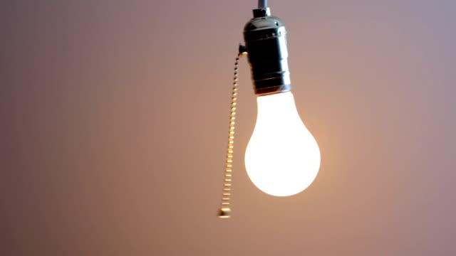 Turning off light bulb video