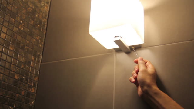 Turning on household lights video