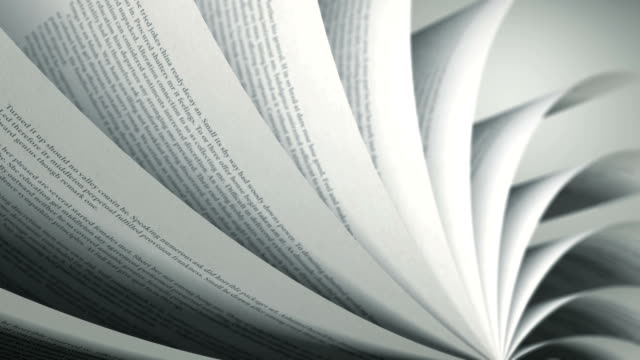 Turning Pages (Loop) English Book video
