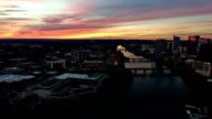 Turning Pan Entire South Austin Texas Area Dramatic Sunset Aerial Drone View video