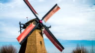 SUPER SLOW MOTION : Turning traditional windmill video