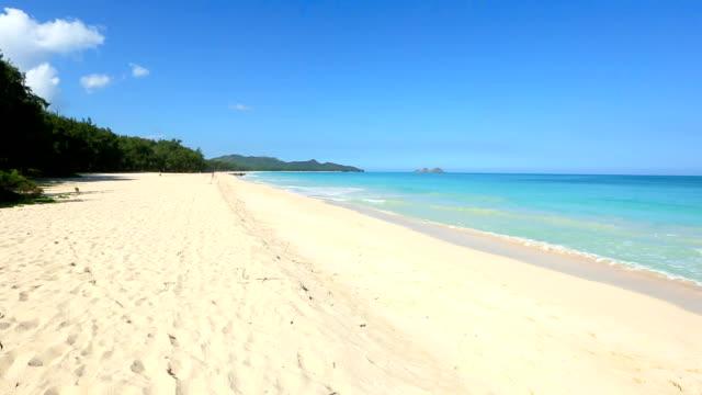 Turquoise Ocean at Waimanalo Beach on Windward Oahu Hawaii video