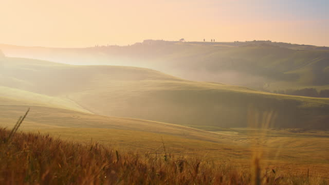 DS Tuscan countryside in fog video