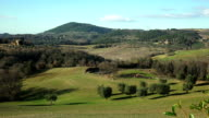 tuscany countryside landscape video
