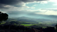 tuscany landscape in Val d'Orcia video