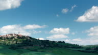 Tuscany landscape panning time-lapse video