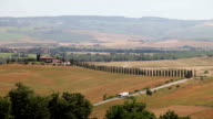 Tuscany Landscape with Cypress trees video