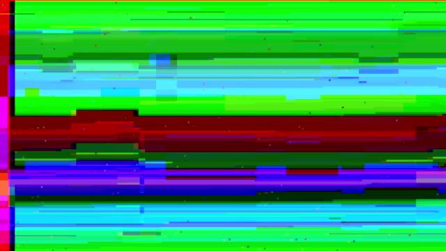 tv malfunction grained distorsed tv noise data glitch video